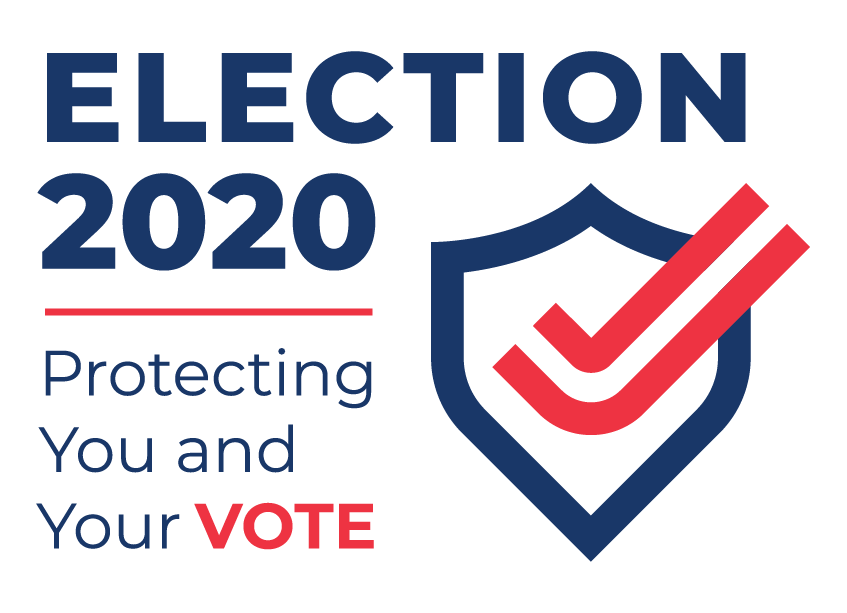 Election 2020 protecting you and your vote logo
